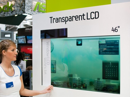 Transparent solar powered lcd tv