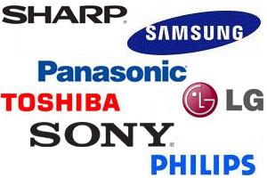 Top TV Brands Panasonic Sony Toshiba LG Samsung